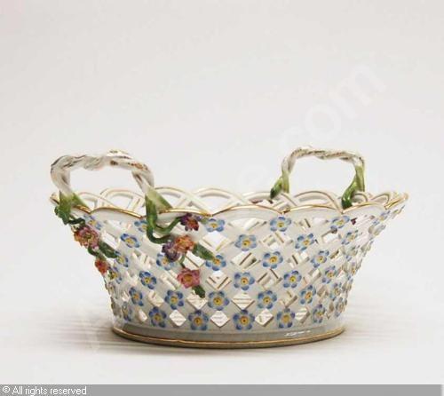 Meissen Porcelain Basket