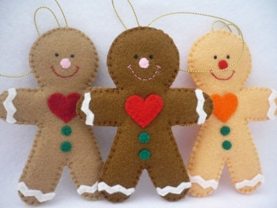 Gingerbread people ornaments.....<3 <3