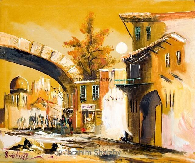 الاقصى - رسم الفنان ابراهيم شلبي