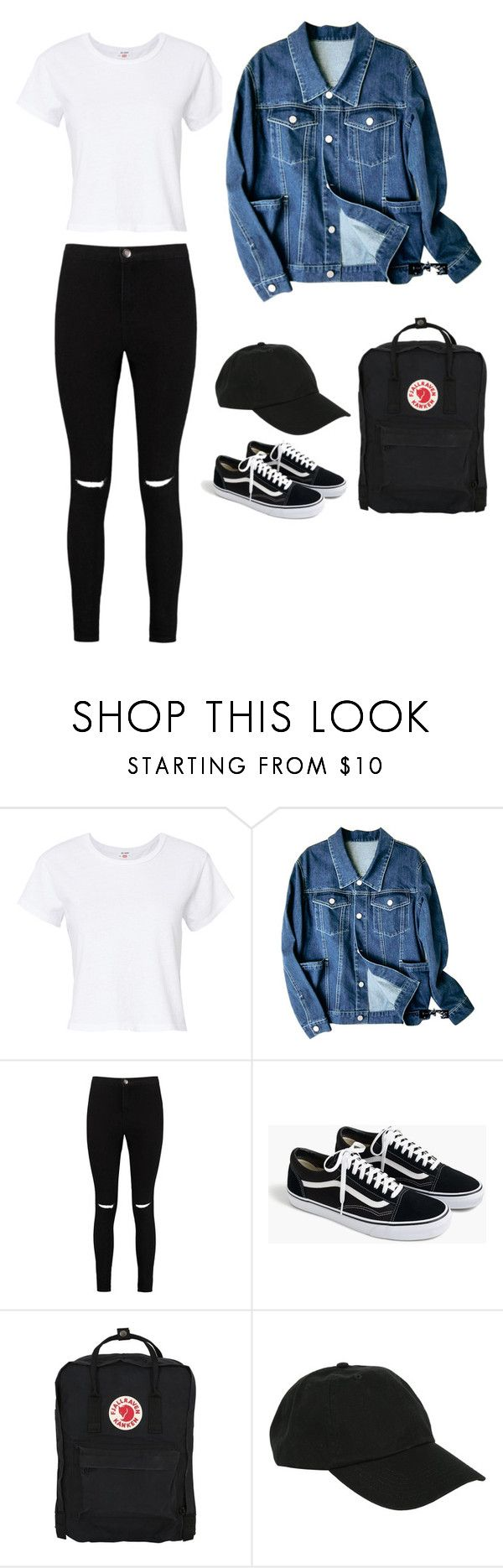 """""""school pt. 3"""" by i0119 on Polyvore featuring RE/DONE, Boohoo, J.Crew, Fjällräven and Hot Topic"""