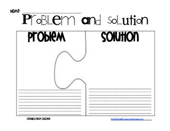 Problem and Solution Activity Pack - Fourth and Ten - TeachersPayTeachers.com