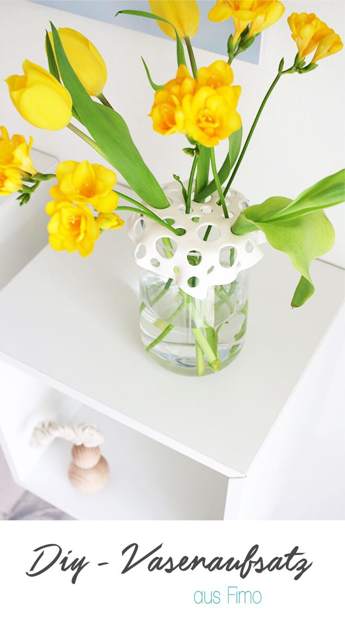 DIY: Dani von Gingered Things zeigt euch wie ihr aus Fimo einen tollen Vasenaufsatz basteln könnt, so dass auch wenige Blumen in einer Vase schöne aussehen. Eine tolle Deko oder auch ein hübsches Geschenk.