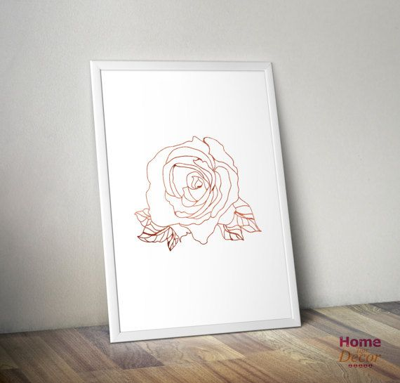 Rose Gold Wall Art Home Decor Minimalist Print by HomeDecorTips