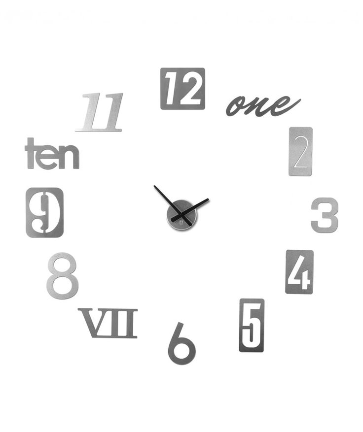 Regalos que encantan: .Reloj de Pared Numbra Níquel de Umbra en Dekosas.