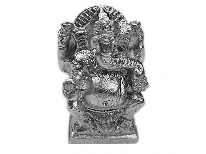 Parad Ganesha,Buy Parad Ganesha online from India. Dimensions: 1.75 inches (H) x 0.75 inch (L) Weight:120 gms Lord Ganesh made of pure solidified mercury (Parad). Parad Ganesh is very effective in removal of hurdles and miseries of life. Ganesha is revered as the son of the Shiva and Parvati. As the god of success, his names are chanted at the start of any important venture.