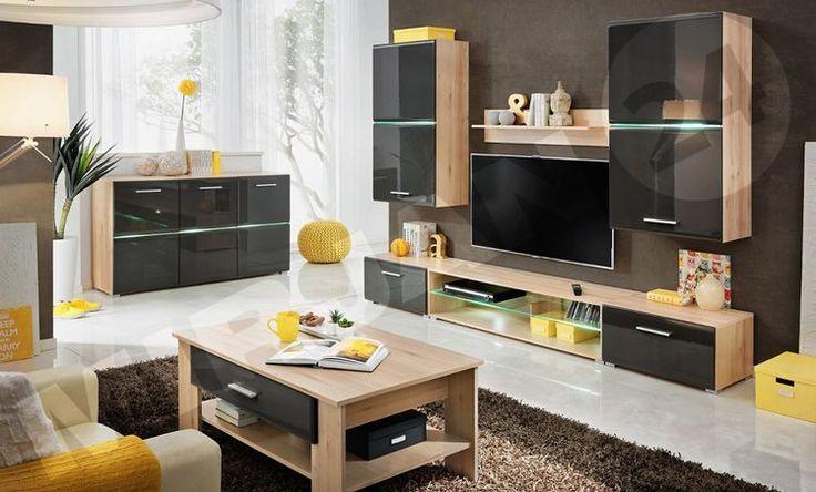 Sprytne przechowywanie w salonie - meblościanka - Myhome
