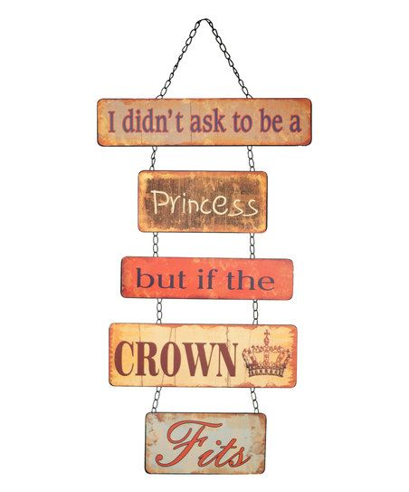 'Princess' Hanging Wall Sign
