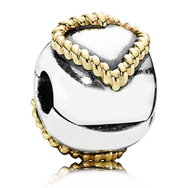 braided heartBraids Heart, Gold Braids, Pandora Beads, Pandora Braids, Heart Clips, Pandora Bracelets, Pandora Charms, Sterling Silver, Pandora Clips