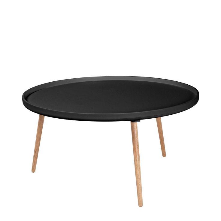 Table basse ronde Kompass Ø90 noire Noir Drawer