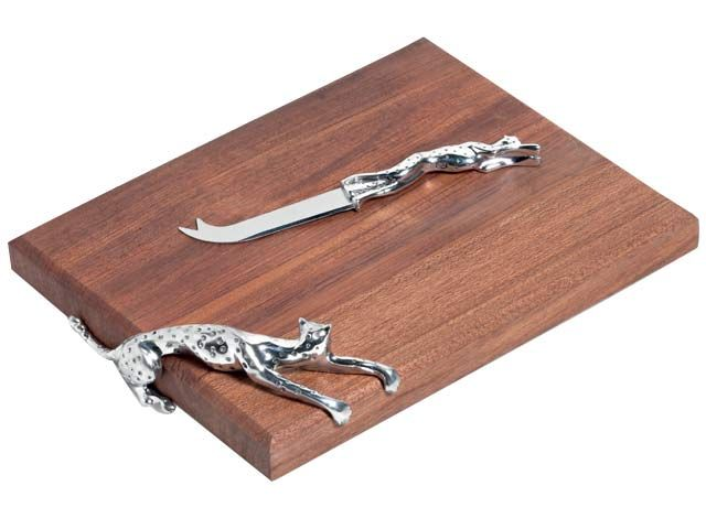 Cheetah Africa Medium Cheese Board And Knife at Kitchen Accesories | Ignition Marketing Corporate Gifts