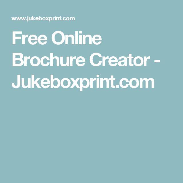 Free Online Brochure Creator - Jukeboxprint.com