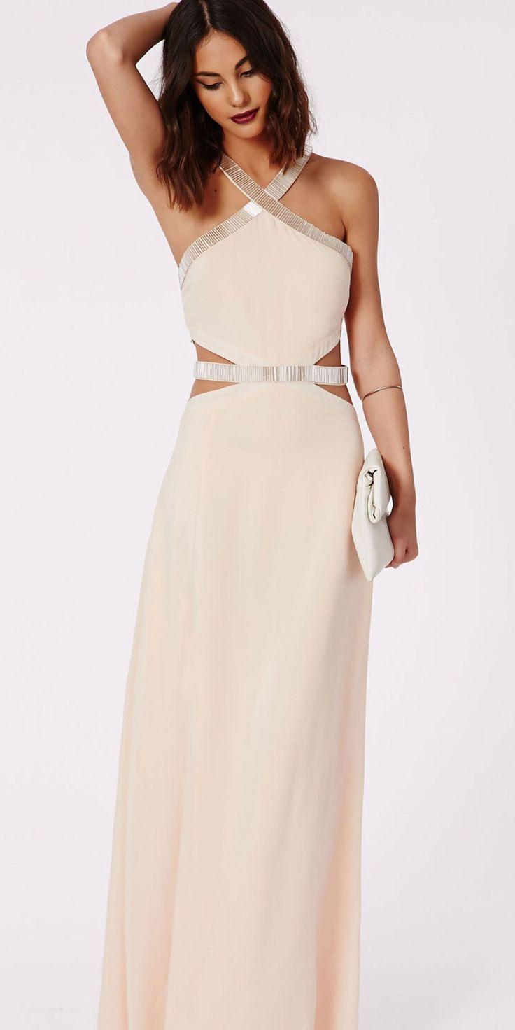 Abbi Cut Out Embelished Maxi Dress, $85.50, missguidedus.com   - Seventeen.com