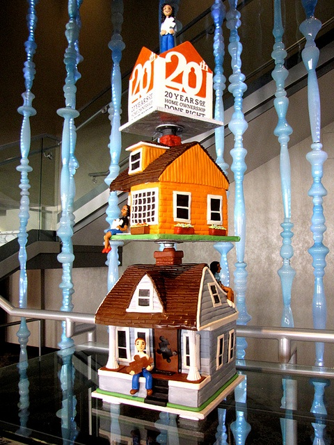 Amazing stacked house cake by 'ArtisanCakeCompany' on flickr. I love the detail on the houses.: Houses Cakes, Food Cake, Cakes Cupcakes, Amazing Cakes, Cake Designs, House Cake, Duper Cakes, Cake Art