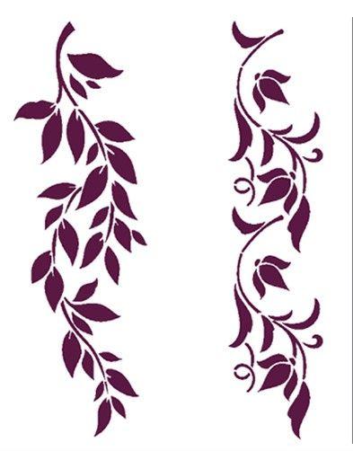 Plantilla de Stencil Frisos vegetales 21x30cm T-3052