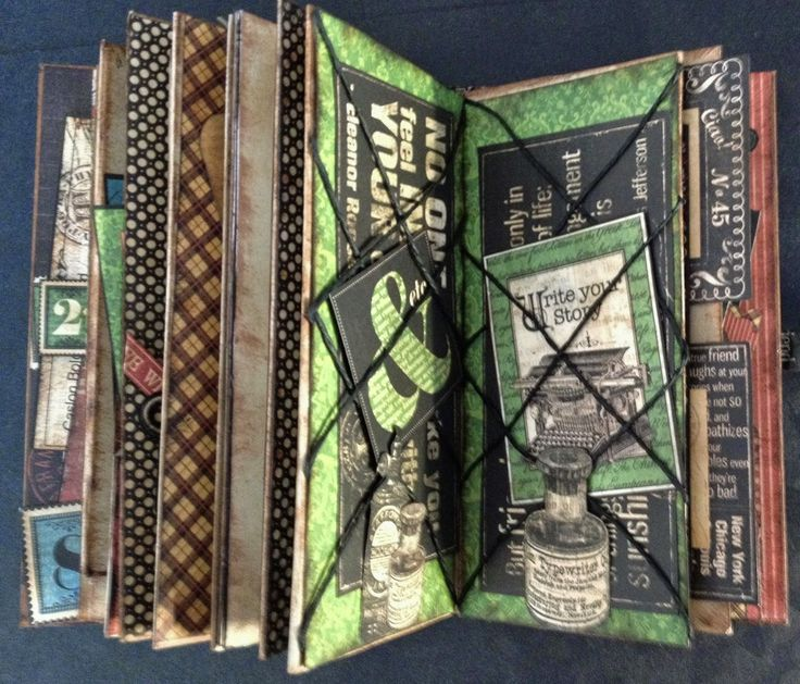 Hi everyone :-)   Made this journal with the gorgeous Typography papers and cut outs from Graphic 45. It measure 3 1/2 x 6 1/2 and there is...