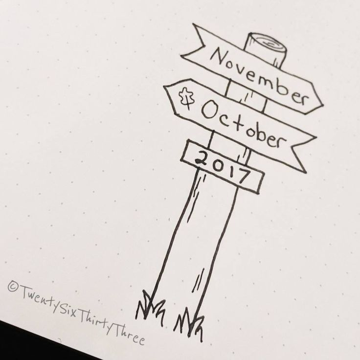 Bullet journal monthly cover page, November cover page. @twentysixthirtythree