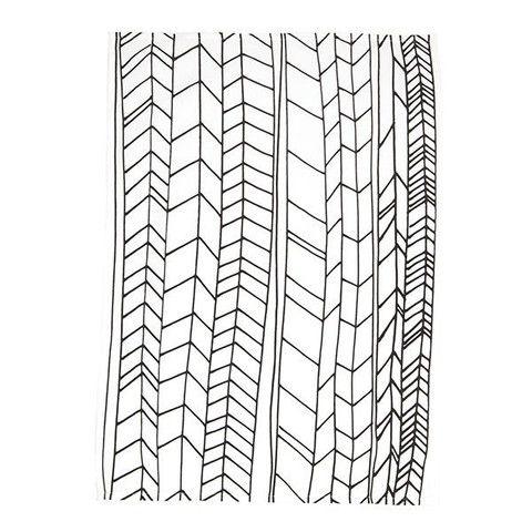 Tea Towel - White Feather