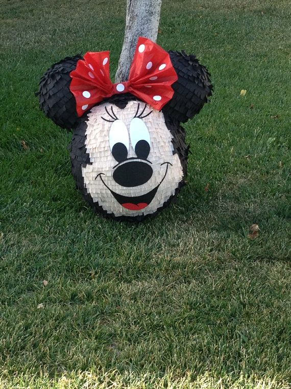 Pinata pinata pinata custom Minnie Mouse face piñata on Etsy, $70.00