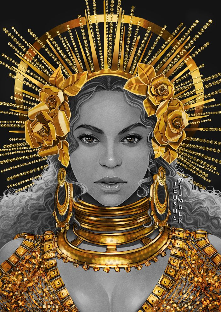 You know my obsession with gold, so I guess it is not a surprise I would be obsessed with Beyonce's wonderful dress.  Prints:  RedBubble | Society6  PLEASE DO NOT REPOST OR EDIT