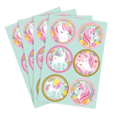 Magical Unicorn Stickers 4 Sheets