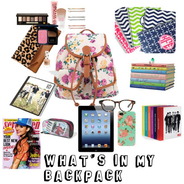 """""""What's in my backpack"""" by preppybattle96 on Polyvore"""