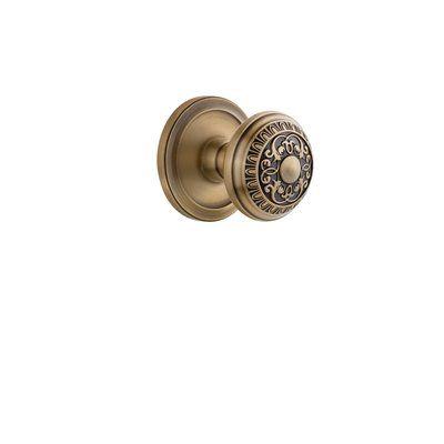 Grandeur Windsor Door Knob with Circulaire Rosette