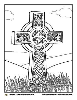Celtic cross page designs coloring pages for Celtic cross coloring pages