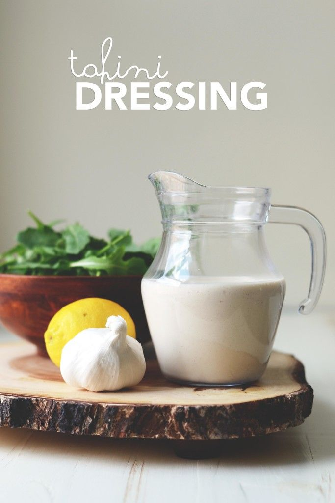 This creamy Mediterranean inspired tahini dressing, is perfect for making a salad a meal, upgrading your sandwiches' mayo and packs a punch to bean burgers.