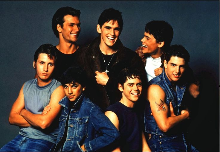 Gotta love those boys! The original bad boys. Real non-singing Greasers. The Outsiders on booksandthelike.blogspot.com