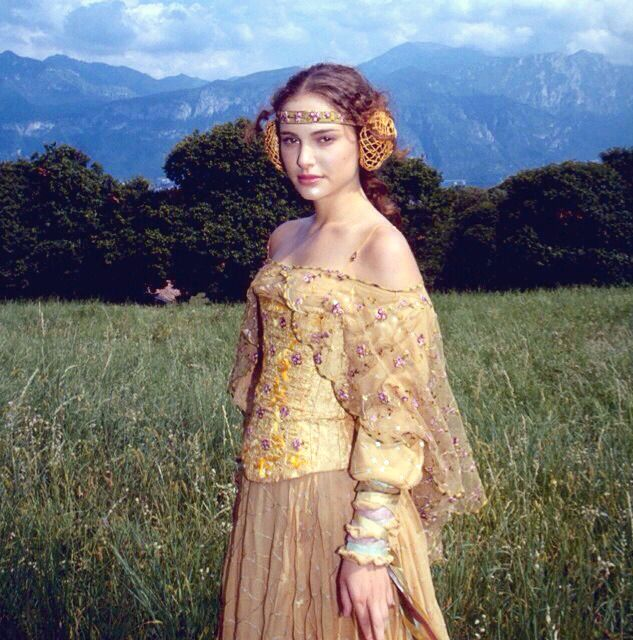 A lovely promotional photo of the Meadow Picnic gown I didn't have before from the Official Star Wars instagram. Added to Padme's Meadow Picnic page. That costume still makes me sigh it's so...