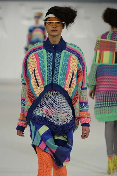 Oversized Psychedelic Knitwear - The Neon Patterns by Alison Woodhouse are Hypnotizing (GALLERY)