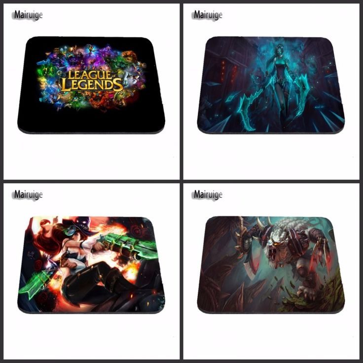 Stylish Top Selling The League of Legends LOL Silon Anti-slip Mousepad Computer Mouse Pad Mat For Optal Me Trackball Mouse