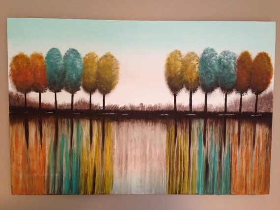 Abstract treestree painting tree reflection by Creationsbyconni