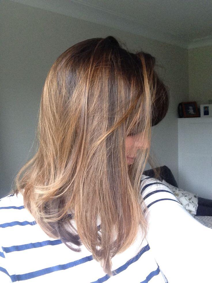 Golden brown highlights