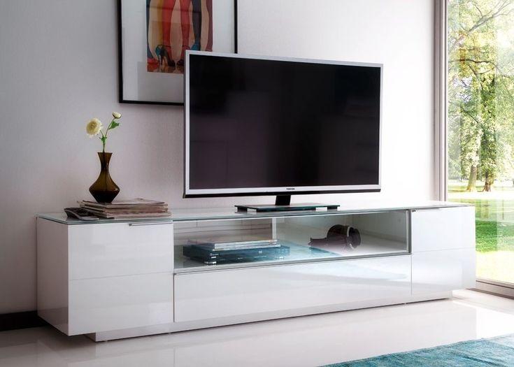 Die besten 25+ Tv schrank weiss Ideen auf Pinterest Tv wand grau - wohnzimmermöbel weiß hochglanz