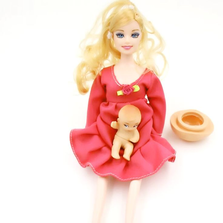 Baby Toys Pregnant Doll With A Mini Baby In Belly Baby Alive Reborn Winx Doll In Her Tummy Real Happy Family For Barbie C0A452