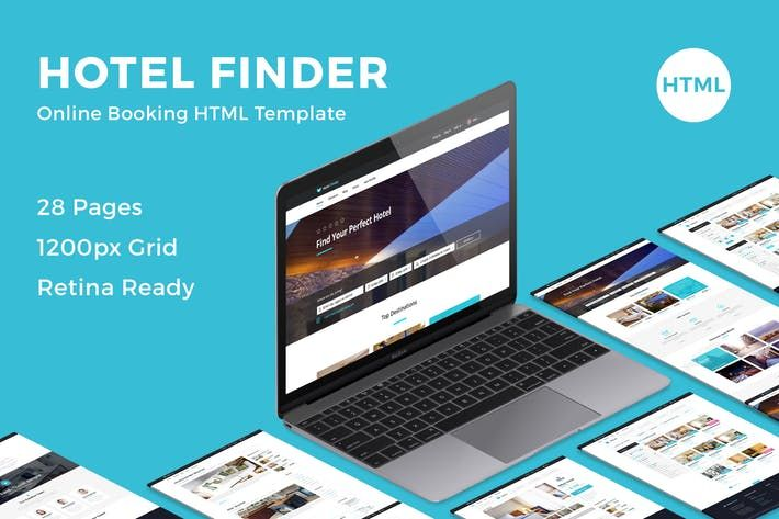 Hotel Finder - Online Booking HTML Website Templat by bestwebsoft