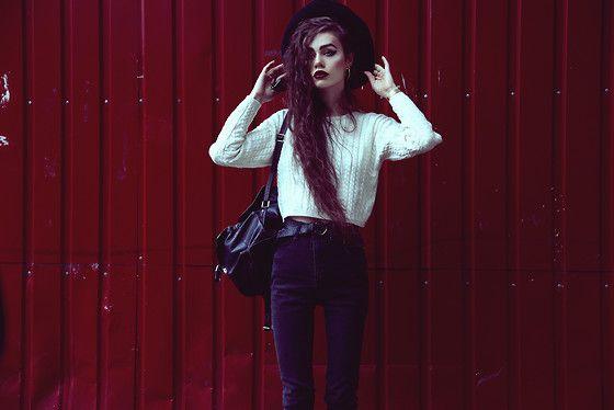 Thrift Store Sweater, Kill City Jeans, Thrift Store Leather Backpack, Thrift Store Hat, Thrift Store Belt, Casio Watch