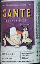 Gante Brown Ale English Brown6      Gante Brewing Co.  Descripción Comercial:  Gante Brown Ale