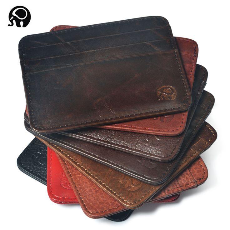 men Wallet Business Card Holder bank cardholder leather cow pickup package bus card holder Slim leather multi-card-bit pack bag  ** Uznayte bol'she o bol'shom produkte po ssylke izobrazheniya.
