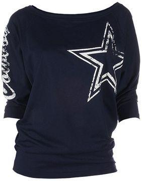 Dallas cowboys dolman tee - women on shopstyle.com