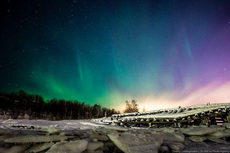 Murmańsk - zorza polarna (Russia)