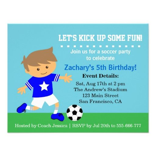 9 best alexanders 7th birthday soccer theme images on pinterest cute soccer boy football themed birthday party card bookmarktalkfo Images