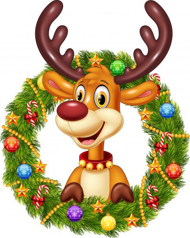 Ciervo Gracioso De Dibujos Animados Con Free Vector Freepik Freevector Freefondo Freenavidad Dibujo De Navidad Dibujos Renos Navidad Arte De Navidad