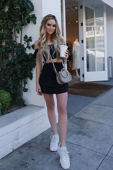 f2358159 Amanda Stanton wearing Majorelle Ginger Top in Black, Chloe Nile Bag and  Nike Air Force 1 Jester Xx Sneakers