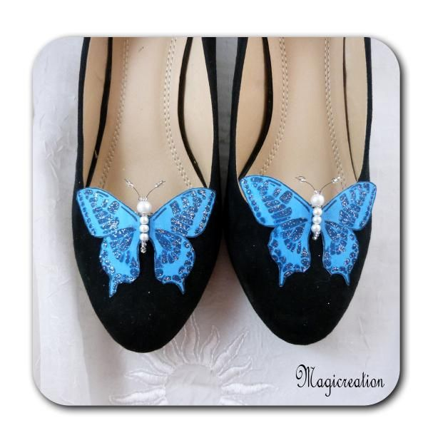 CLIPS CHAUSSURES PAPILLONS SOIE - MAEVA - Boutique www.magicreation.fr