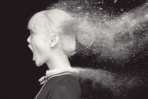 Rila Fukushima Portrait Dust Experiment on Behance | by Pete Ulatan