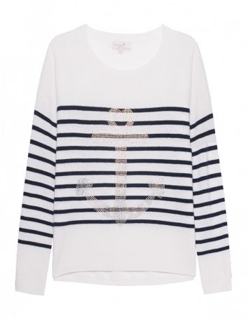 Rosa von Schmaus Stripes Anchor Blue & White