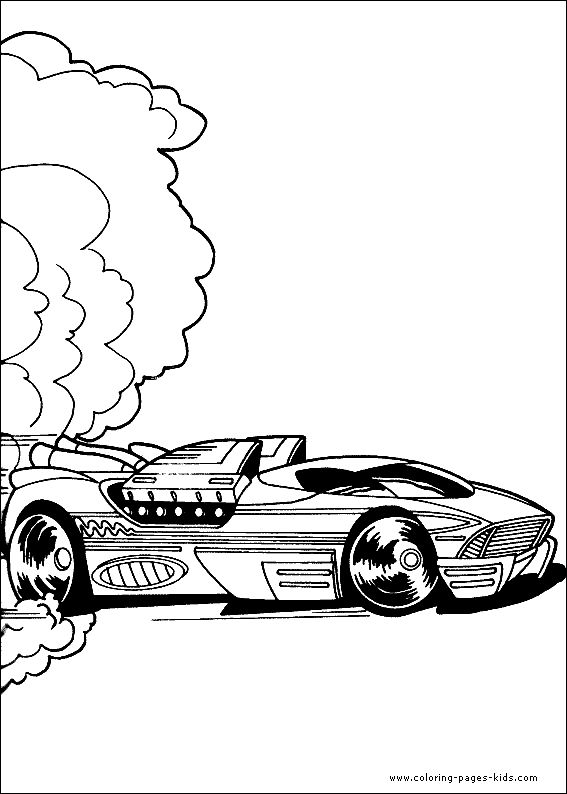 hot wheels - Coloring 4 Kids