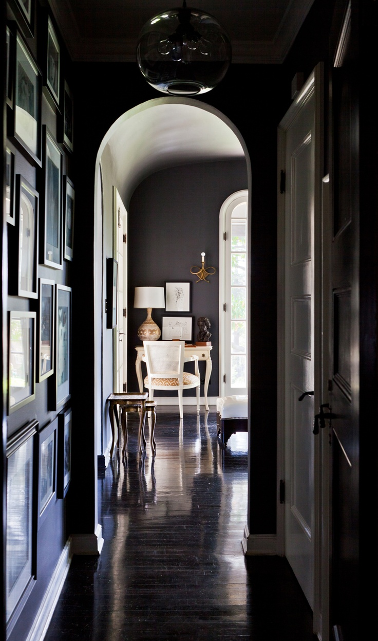 1000 images about fine paints of europe paint on for Dark grey interior